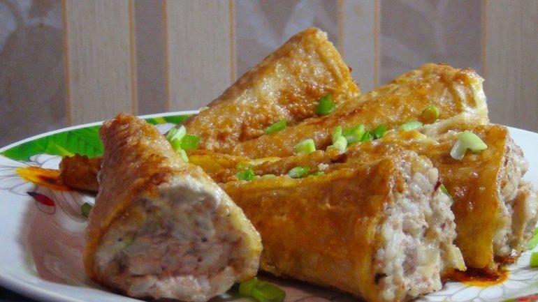 Закуска «Рыбные хвостики»: еще один вариант начинки