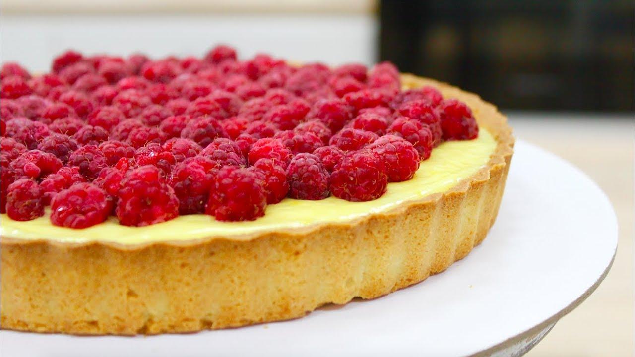 Самый вкусный малиновый тарт с заварным кремом