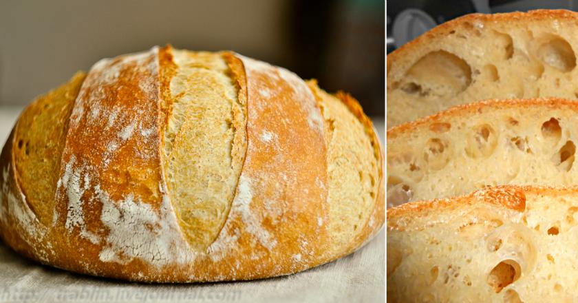 Домашний хлеб без замеса: рецепт для тех, кто не любит сложности