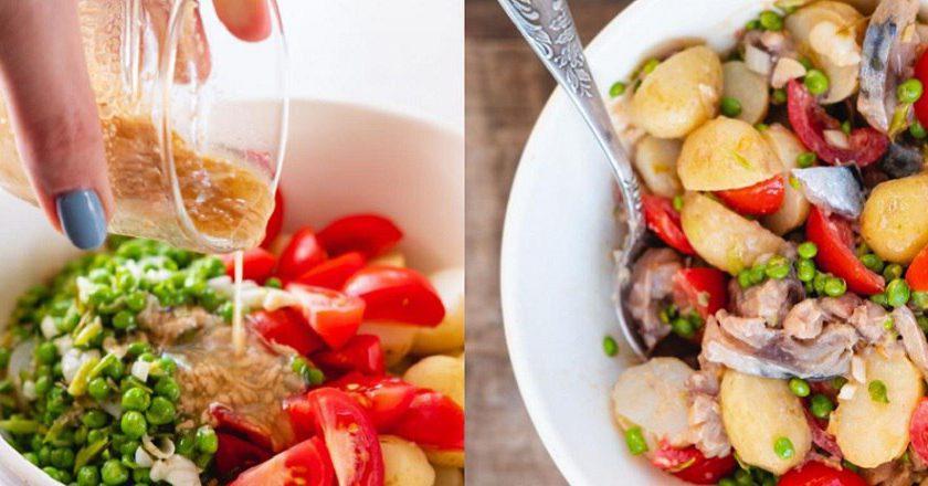 Летний салат со скумбрией: подавать холодным!