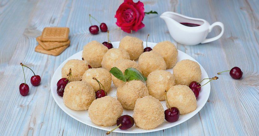 Творожные кнедли с черешней: вкусный и полезный десерт