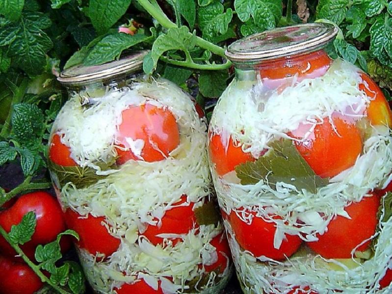 Невероятно вкусные помидоры с капустой