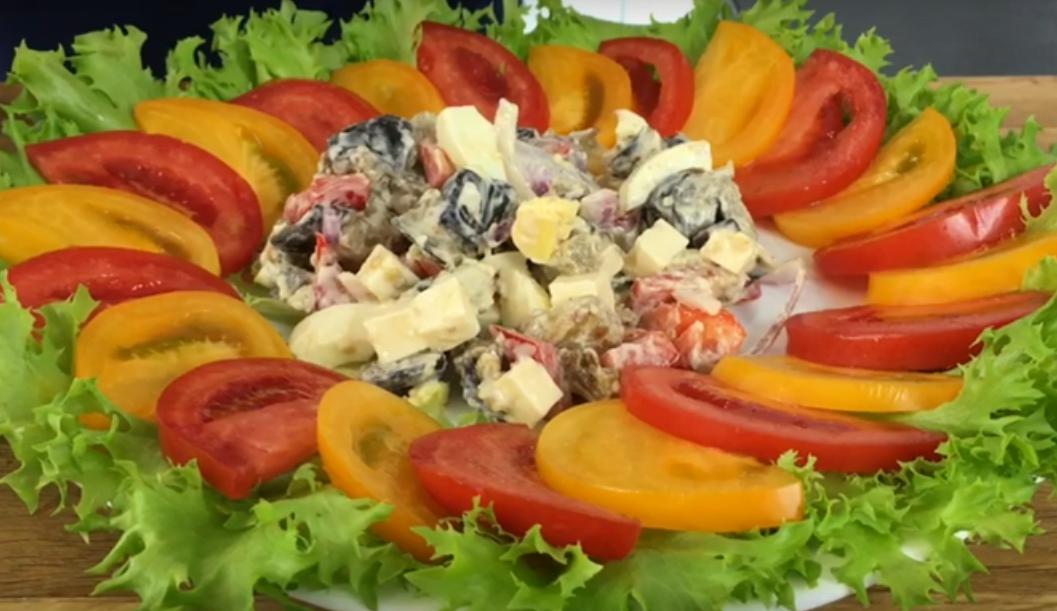 Шикарный салат из баклажанов - устоять невозможно