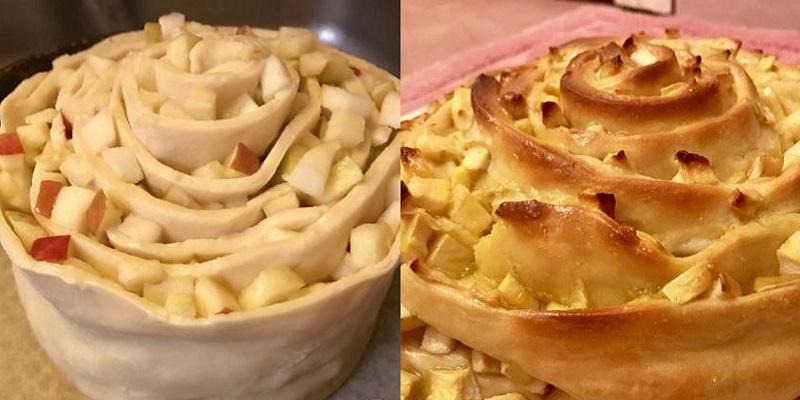 """Восхитительный пирог """"Улитка"""" с яблоками"""