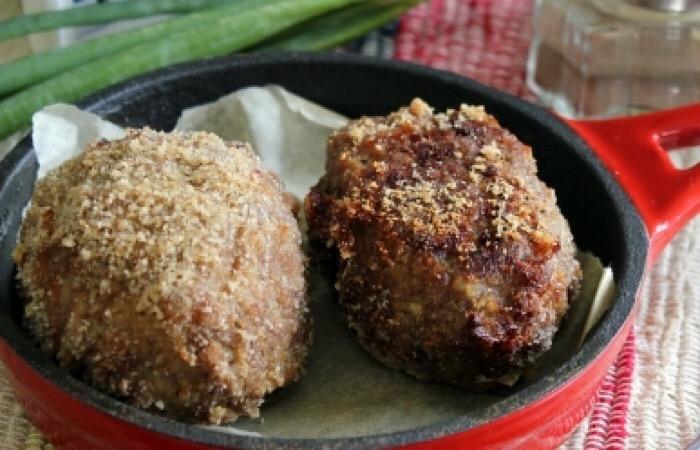 Аппетитные мясные зразы с сыром брынза и луком