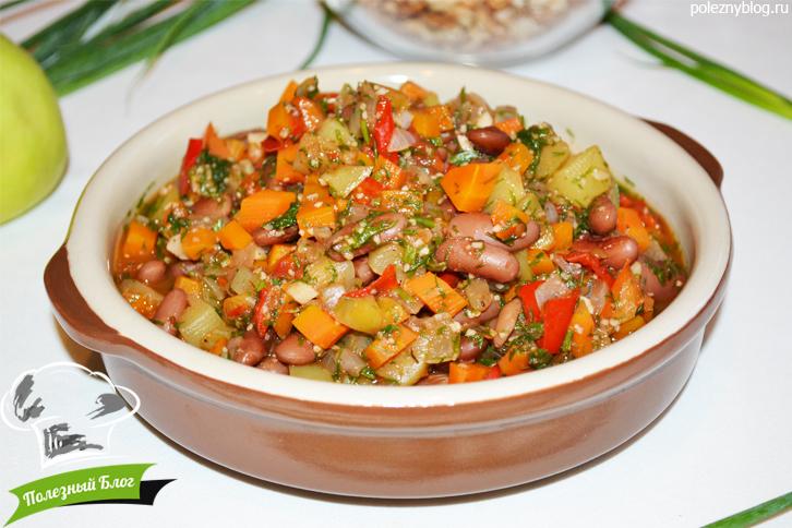 Необычное блюдо из кабачков с фасолью