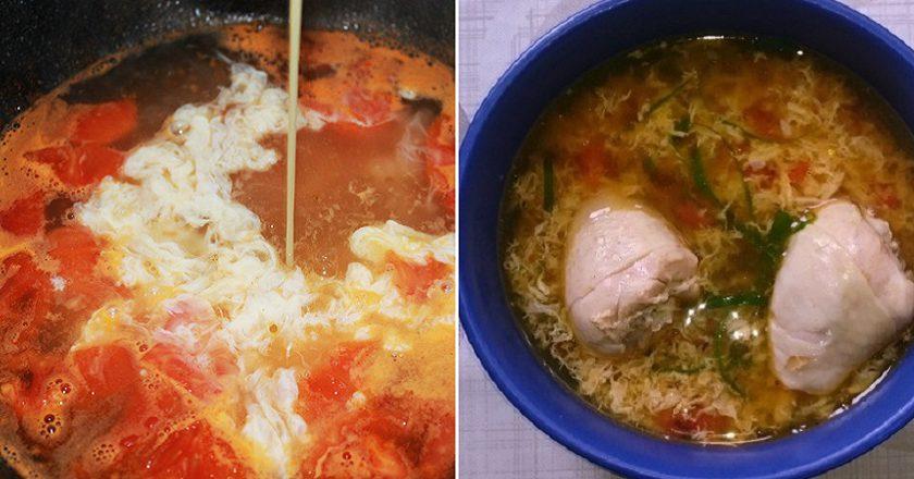 Куриный суп с помидорами: важное блюдо для трапезы