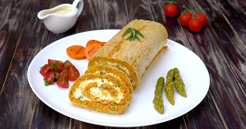Морковный рулет с сырной начинкой: супер-закуска для любителей овощей