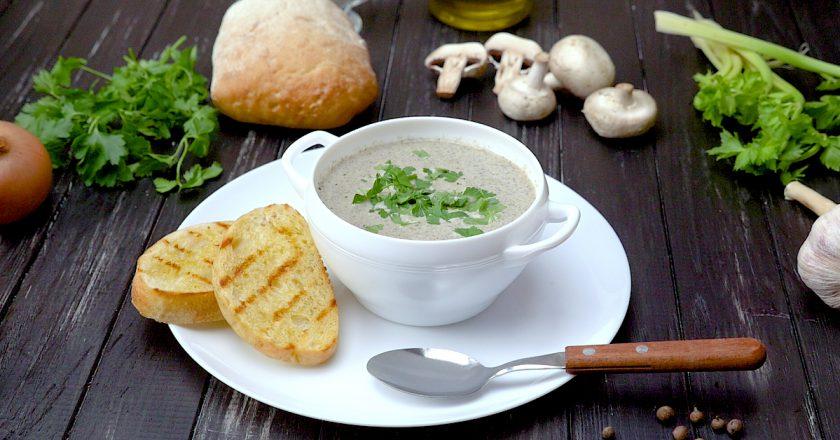 Грибной крем-суп: по рецепту Джейми Оливера