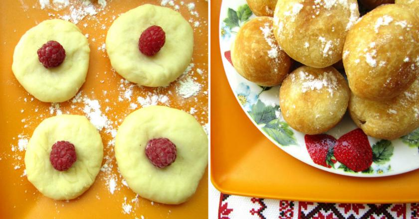 Обалденные пончики с ягодами