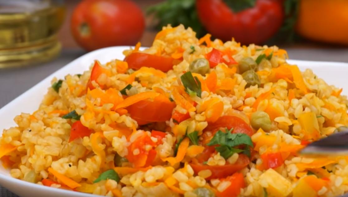 Лучший рецепт приготовления булгура с овощами