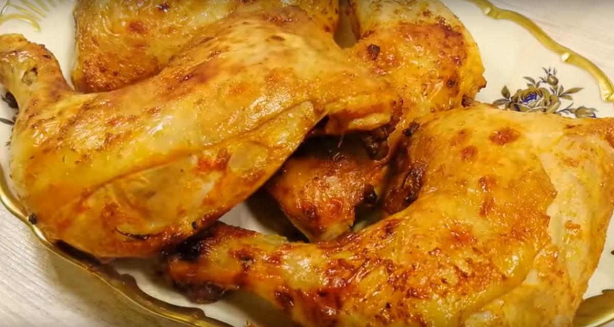 Самая вкусная курочка на кефире (готовим в духовке или на сковороде)