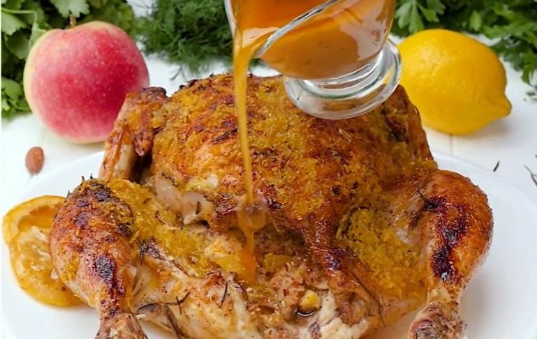 Запеченная курица с лимоном: румяное удовольствие с карамельной корочкой