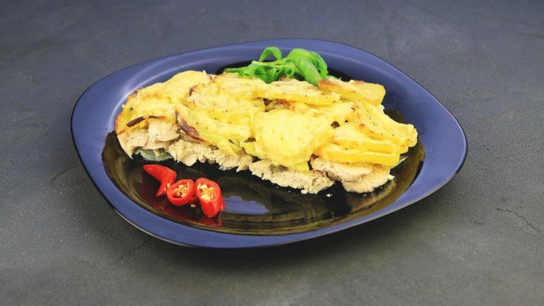 Гратен с курицей и грибами: если любите вкусно покушать!