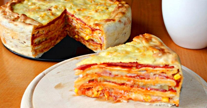 Пицца-торт: многослойное удовольствие, перед которым не устоять