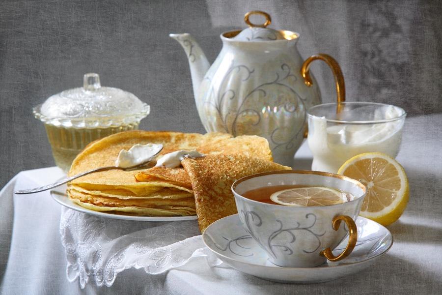 Старой, открытки чай на завтрак