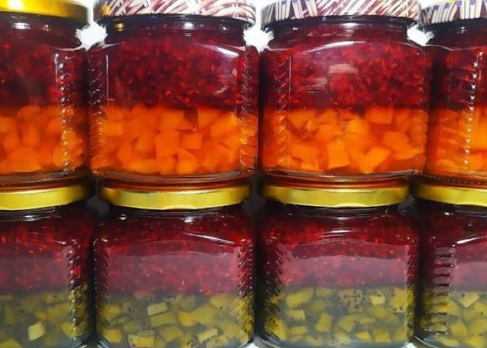 Двухслойное варенье из киви и малины: витаминная бомба