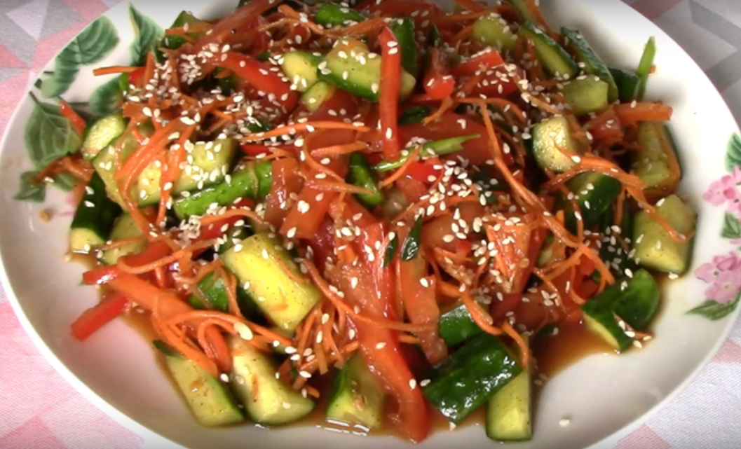 Салат из огурцов по-корейски