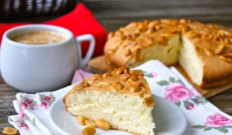 Классический бисквит с арахисом: самая простая выпечка