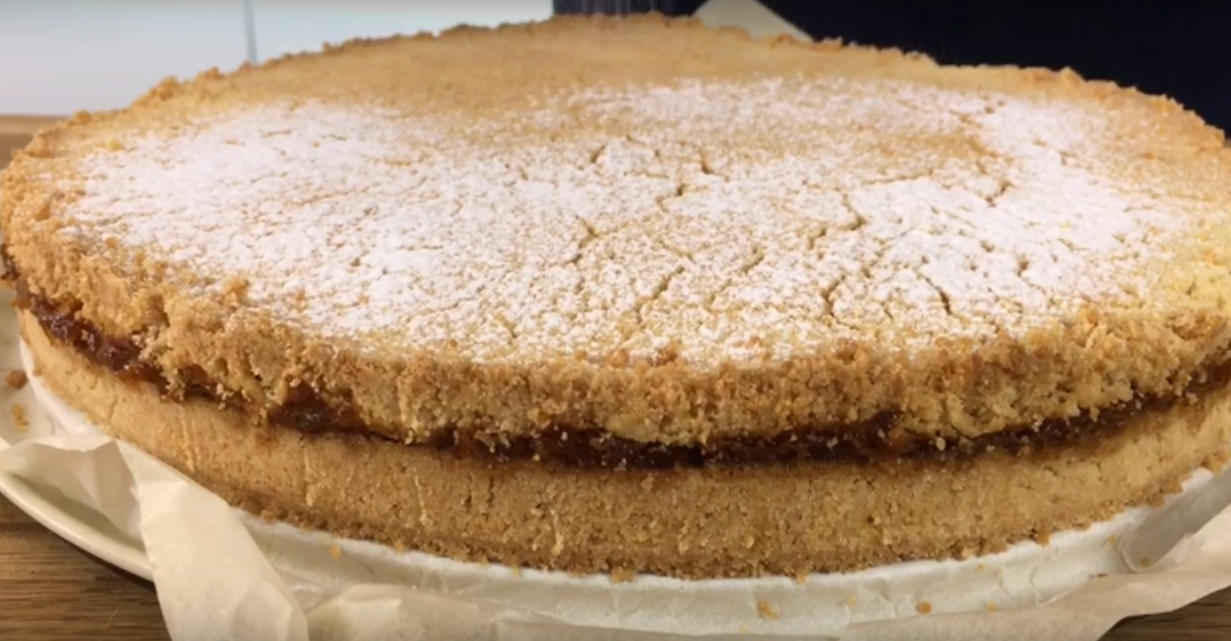 Тертый тыквенный пирог