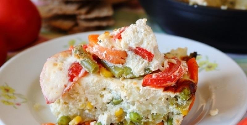 Омлет с овощами в духовке: вкусный белковый завтрак
