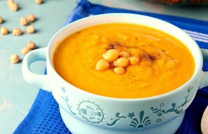 Вкусный тыквенный суп-пюре с нутом
