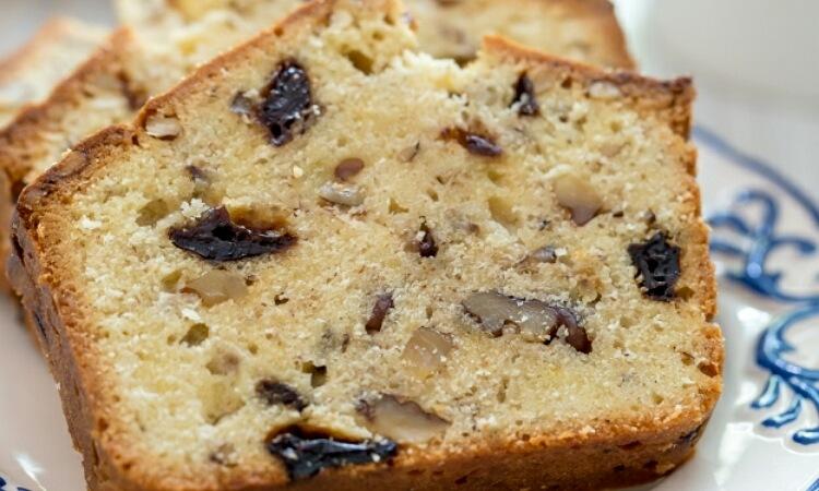 Вкуснейший кекс с вяленой вишней и орехами