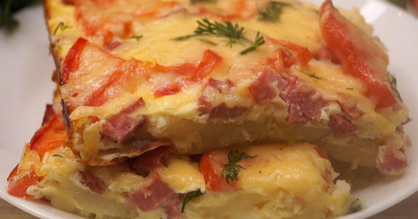 Обалденная картофельная пицца на сковороде