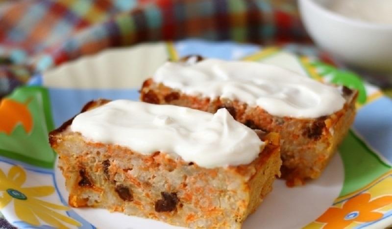 Морковная запеканка с рисом и изюмом: сытный и питательный завтрак