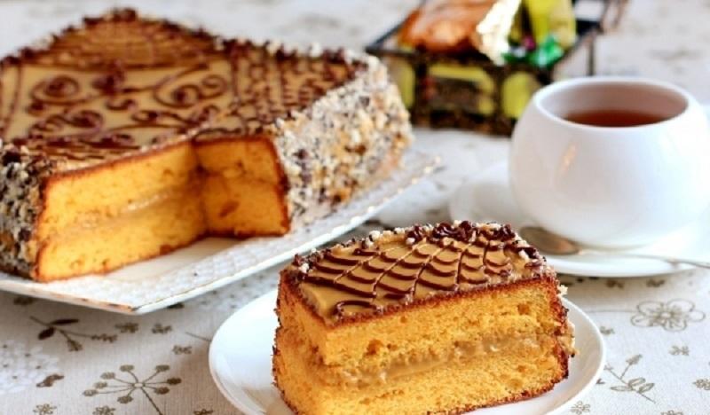 Тыквенный торт с карамельным кремом: безумно нежный и в меру влажный