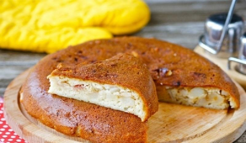 Заливной пирог с картошкой в мультиварке: вкусный и ароматный