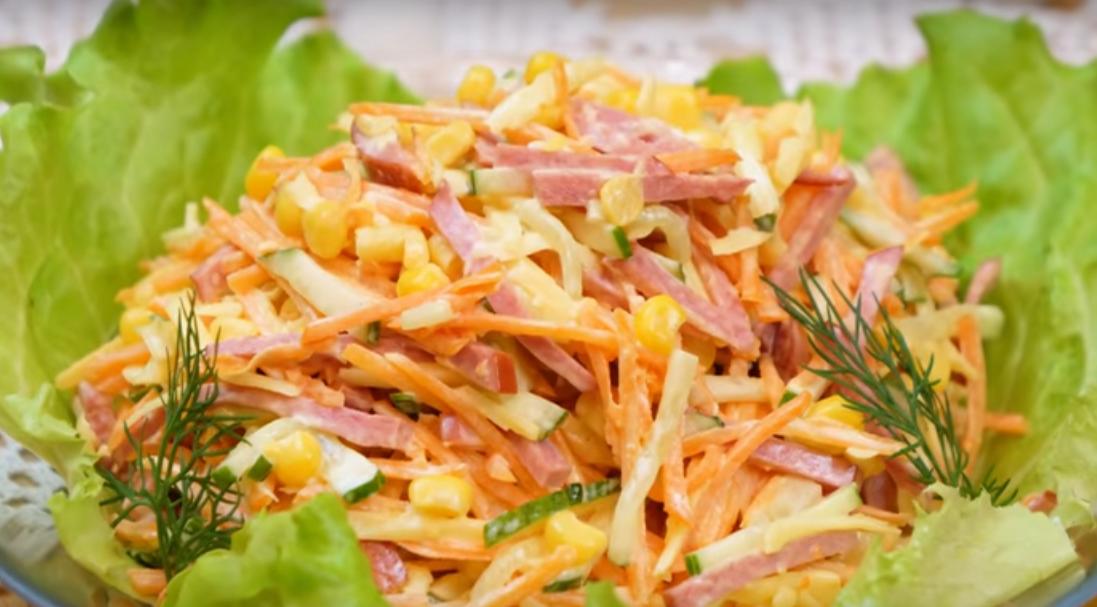 """Экспресс салат """"Венеция"""" за 10 минут (без варки продуктов)"""