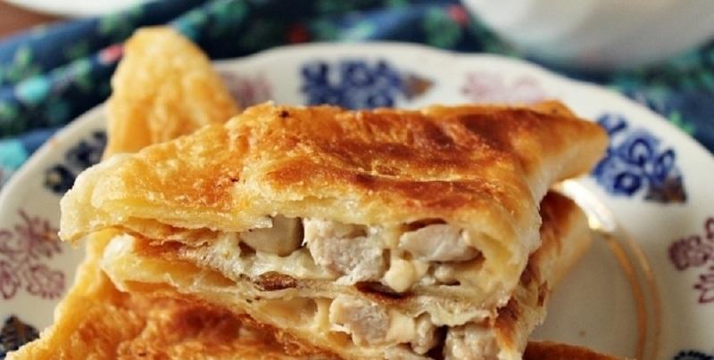 Очень вкусная начинка для пирожков: с курицей и сыром