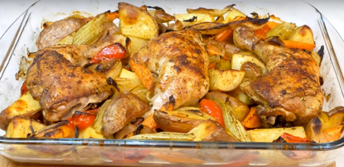 Курица с овощами к праздничному столу