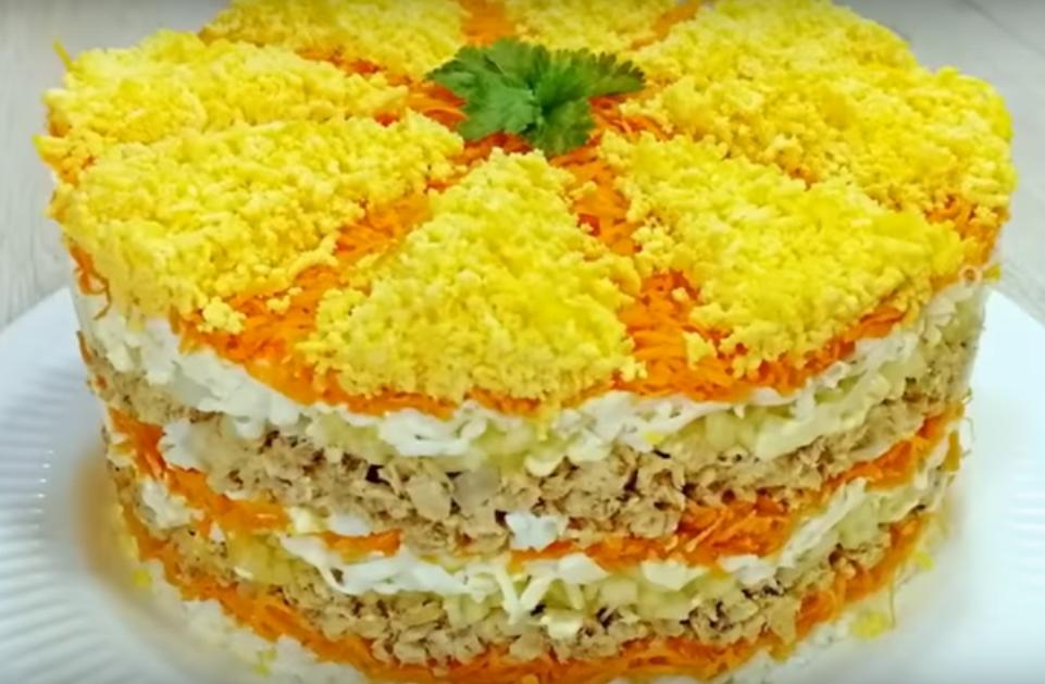 """Салат """"Французская мимоза"""" - вкусно и просто"""