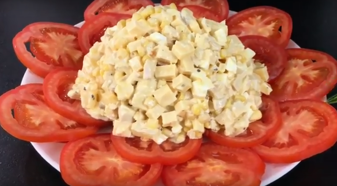 """Изысканный салат """"Розочка"""""""