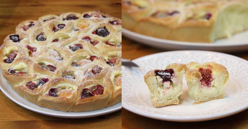 Обалденный творожный пирог с ягодами