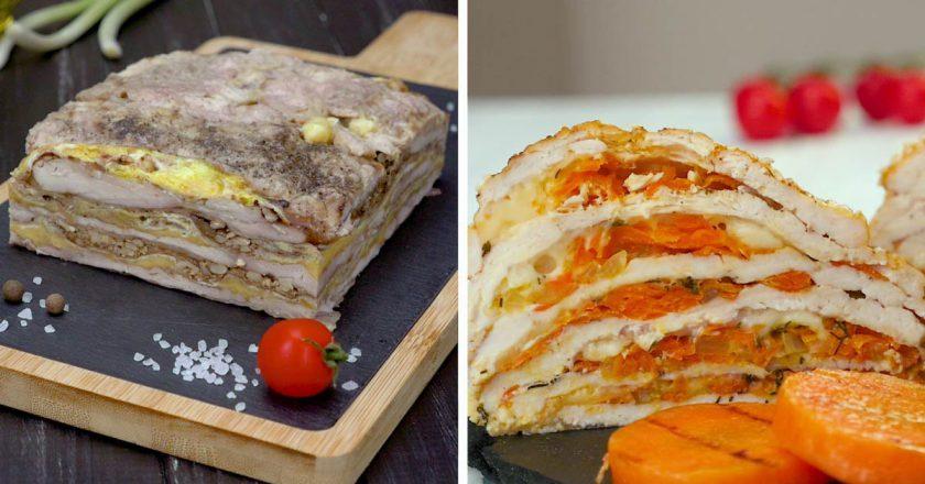 Многослойные запеканки из курицы: два интересных рецепта