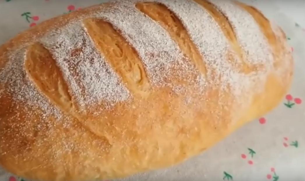 Быстрый и воздушный домашний хлеб