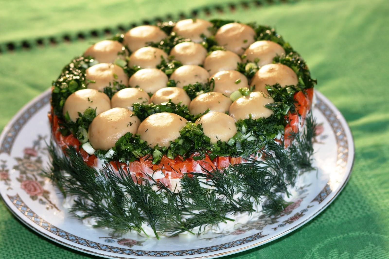 """Самый любимый салат """"Грибная полянка"""""""
