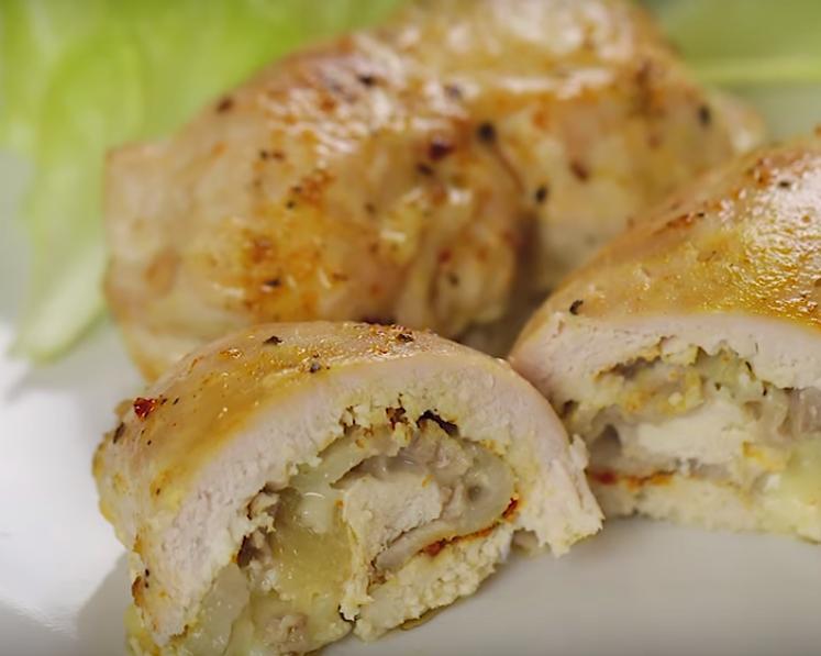 Куриные рулетики с ананасом - невозможно вкусные