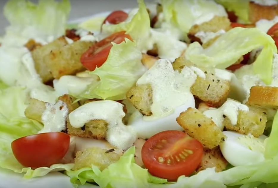 """Салат """"Цезарь"""" - простой и очень вкусный"""