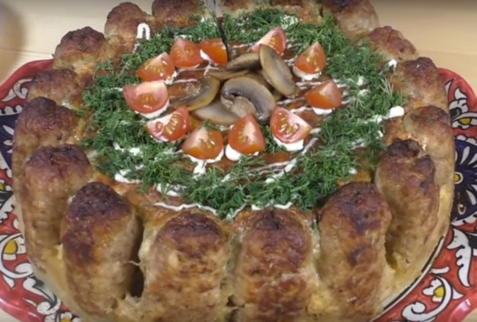 Мужской горячий закусочный торт