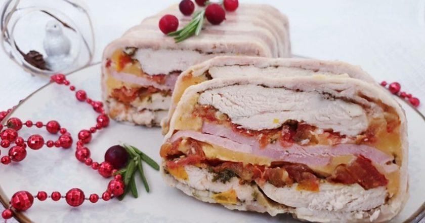 Многослойная мясная закуска: находка для любителей вкусно покушать!