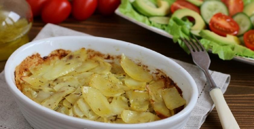 Горбуша с картошкой в сливках: сразу с гарниром!