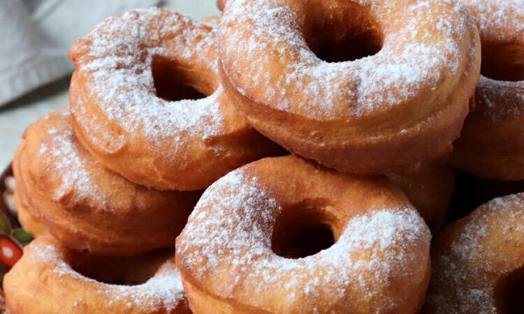Пышные пончики на ряженке