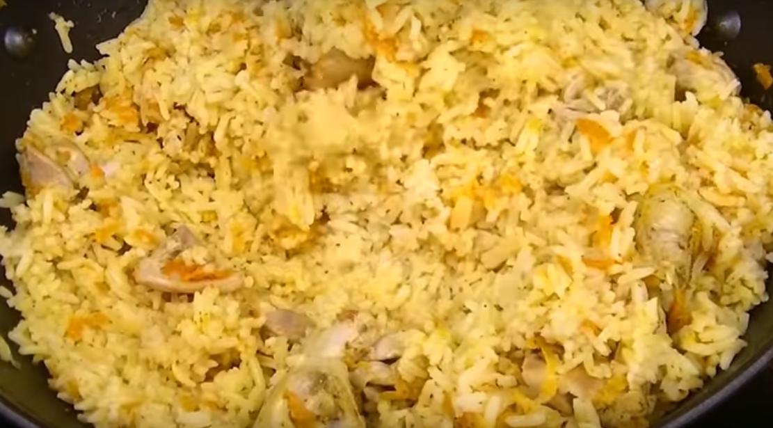Курица с рисом - ужин за 5 минут