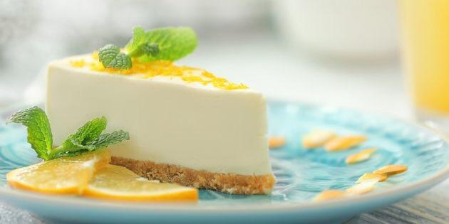 Восхитительный лимонно-творожный чизкейк