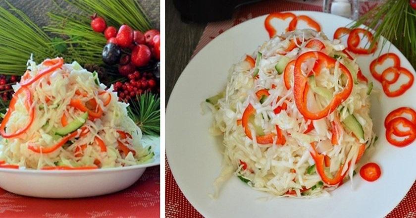 Свежий зимний салат: находка после праздников