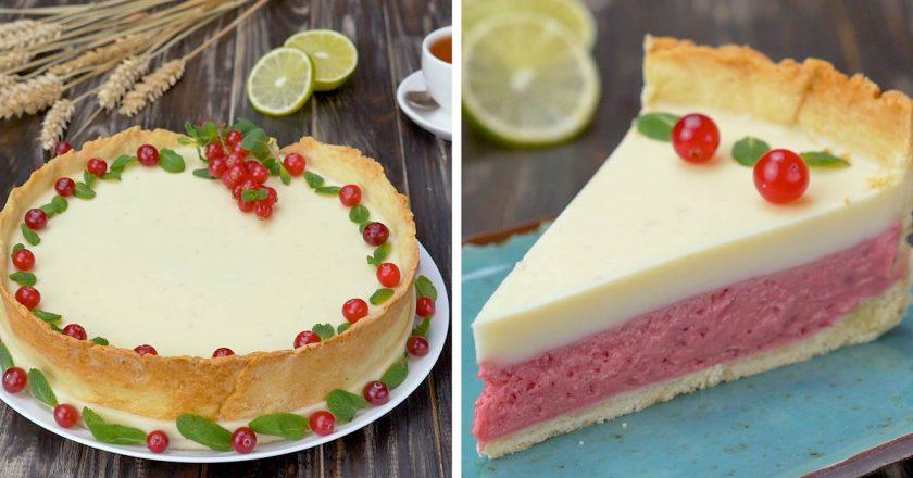 Открытый клюквенный пирог: фантастическое зимнее лакомство